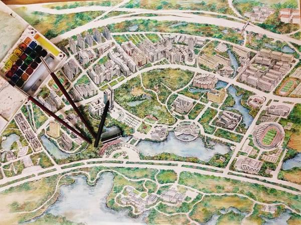 美!美!南昌大学手绘地图你看过吗?