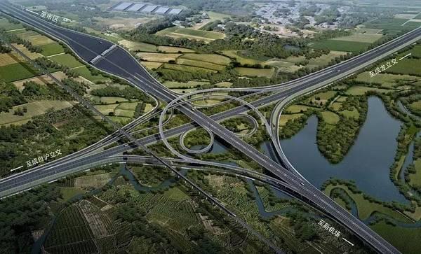 新机场高速公路开工建设全省首条双向8车道新建高速图片