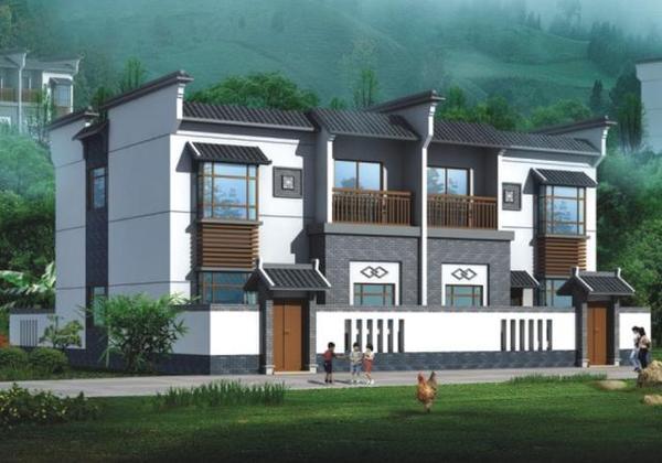 8x18米联排别墅,农村人建得起的别墅