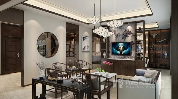 """杭州专业别墅室内设计—""""东方""""新中式风格案例"""
