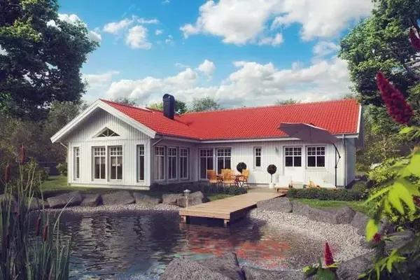农村抽愹l#�+_轻钢房屋10套单层新农村自建房户型各个都经典